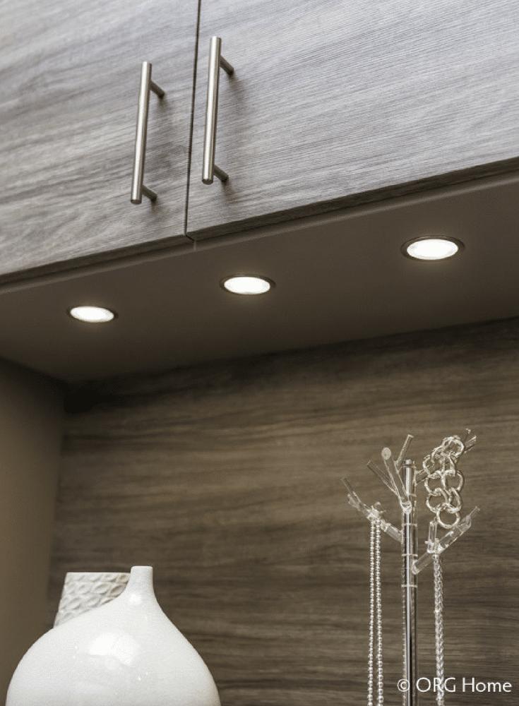 LED lighting on a upper cabinet underside | Innovate Home Org Columbus Ohio