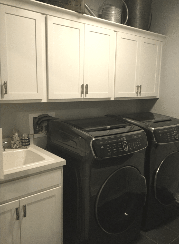 Upper laundry cabinets for increased  storage - Innovate Home Org Columbus Ohio