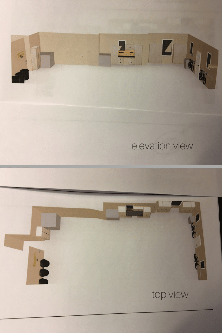 3d design of a luxury 4 car garage cabinetry installation in new albany ohio | Innovate Home Org Columbus Ohio
