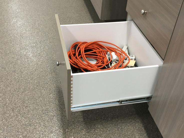 Dovetail custom garage cabinet drawer boxes | Innovate Home Org Columbus Ohio