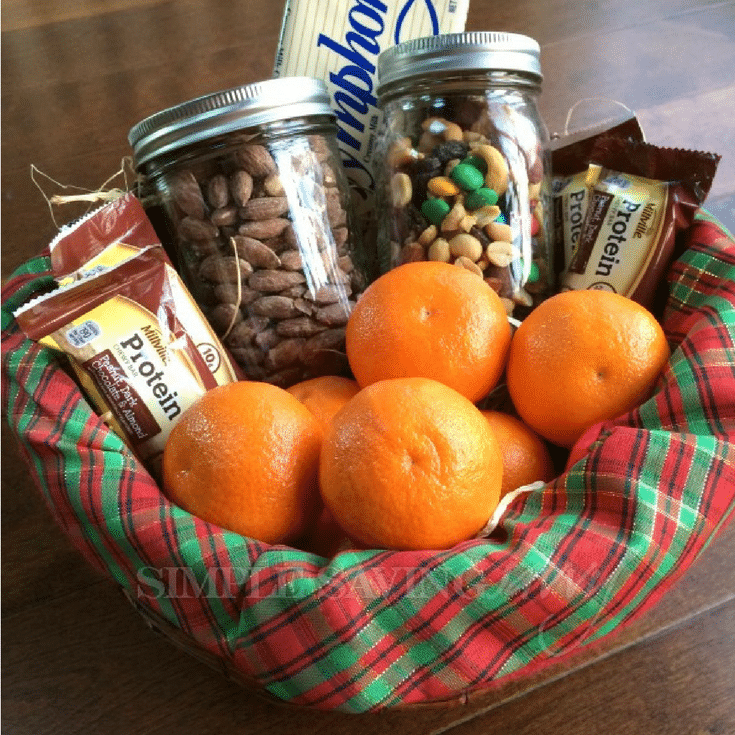 Snack basket for a guest bedroom