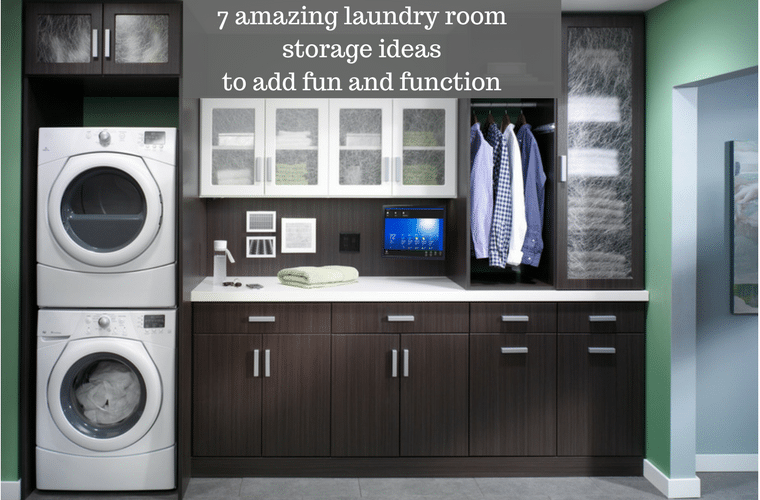 7 Amazing Laundry Room Storage Ideas To Add Fun And Function | Innovate  Home Org #LaundryRoom #Organization #Storage