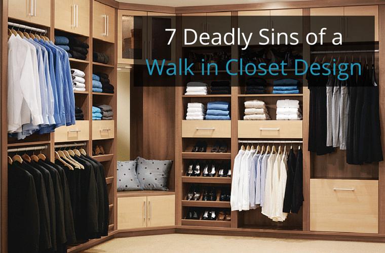 7 Deadly Sins of a Walk in Closet Innovate Home Org Columbus Ohio #Closet #ClosetOrganizer #ClosetOrganizers #Organizers