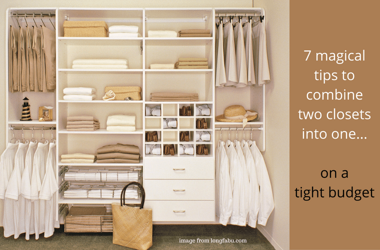 7 magical tips to combine two closets into one Innovate Home Org Columbus Ohio #SmallCloset #TinyCloset #TinyHome #Closets