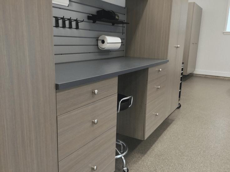 Garage Workbench | Innovate Home Org | Columbus #Workbench #Storage #GarageWorkbench