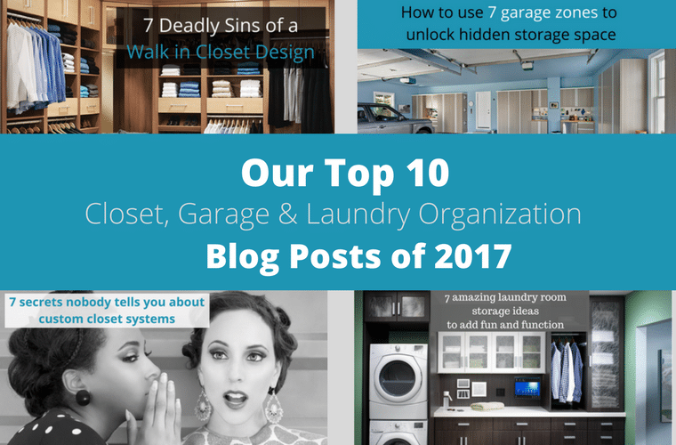 Our top 10 Closet Garage and Laundry Organizatoin Blog Posts 2017 | Innovate Home Org - Columbus Ohio #Garage #Closet #LaundryRoom #Organization