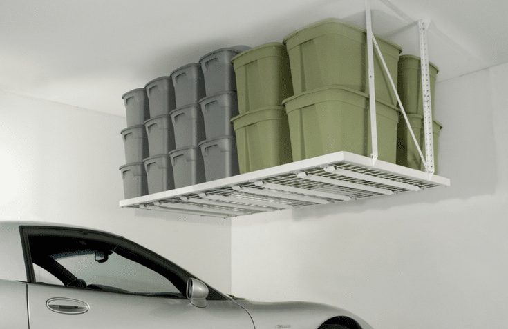 Overhead Ceiling Storage Unit | Innovate Home Org | Dublin, Ohio #GarageStorage #OverheadStorage #CeilingStorage