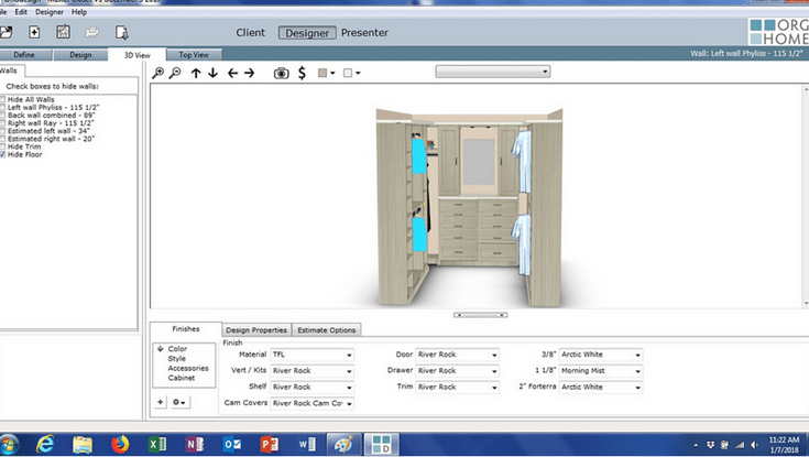 Free 3D Design Tool Innovate Home Org Columbus Ohio #ClosetDesign #Design #Free3DDesign #CustomCloset