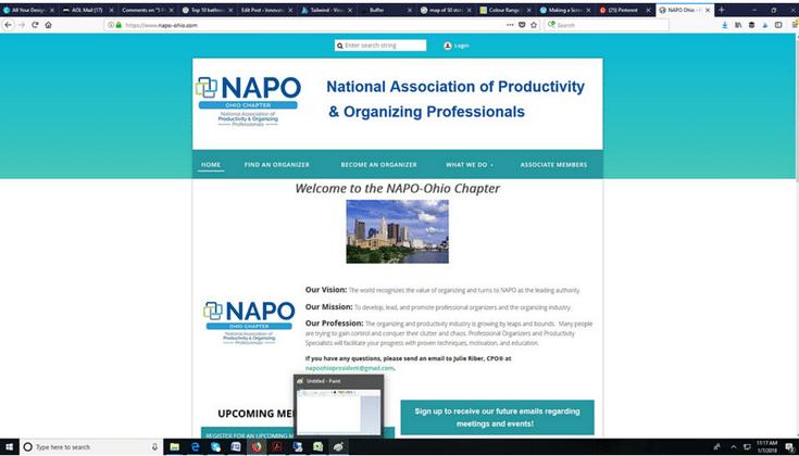 National Association of Professional Organizers In Columbus Ohio   #NAPO #Organizers