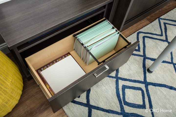 Built-in filing cabinets