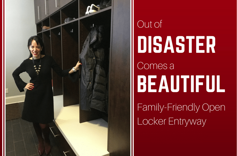 Out of Disaster Comes a Beautiful Family-Friendly Open Locker Entryway | Innovate Home Org | New Albany, Ohio #Entryway #StorageMudroom