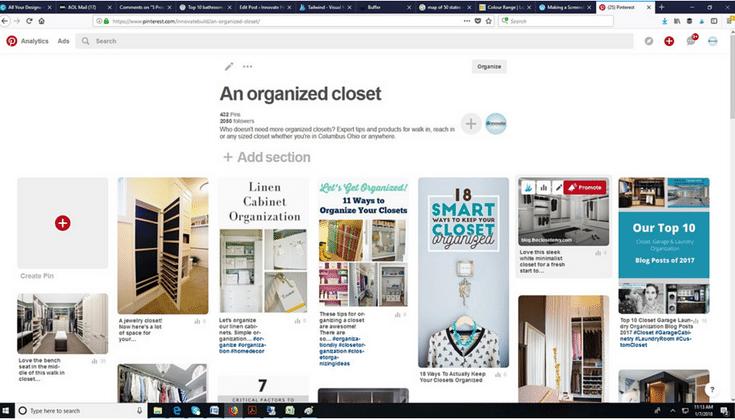 Pinterest Account Innovate Home Org and Innovate Building Solutions | Columbus Ohio #CustomClosets #CustomCloset