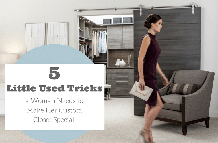 5 Little Used Tricks a Woman Needs to Make Her Custom Closet Special | Innovate Home Org |#CustomeCloset #WalkInCloset #Columbus