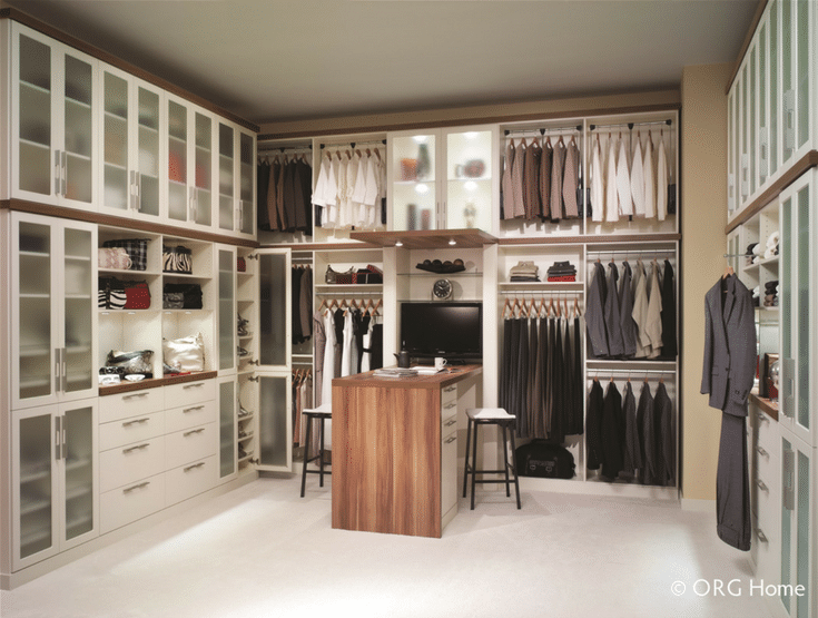 Closet Cabinetry | Innovate Home Org | #ClosedCabinets #ClosetStorage #ShoeStorage