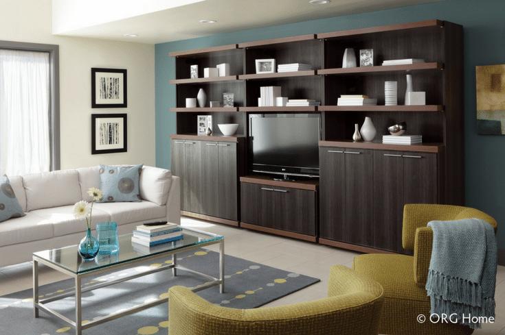 Entertainment Center for Loft Storage | Innovate Home Org | Columbus | #ColumbusLiving #LoftStorage #EntertainmentStorage