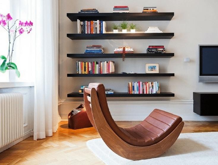 Floating Shelves Source Decoholic | Innovate Home Org | #FloatingShelving #StorageforLoft #LoftLiving