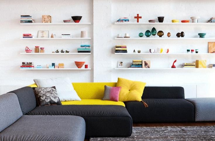 Floating Shelving | Innovate Home Org | #FloatingShelves #ApartmentLiving #Storage