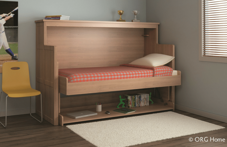 Kids twin size Murphy Bed folds down for sleepovers | Innovate Home Org Columbus Ohio
