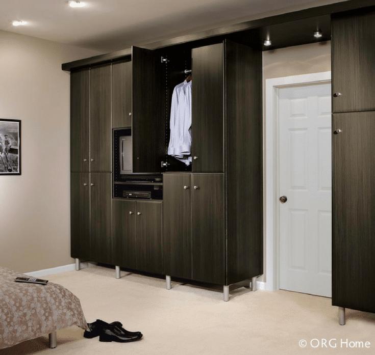 Wardrobe Closet In A Loft Apartment | Innovate Home Org | #DowntownColumbus  #ApartmentCloset #