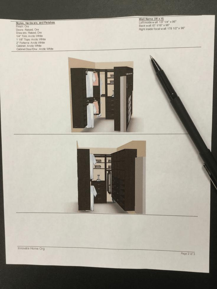 3D design for closet   Innovate Home Org   #3DDesign #WalkInCloset #ClosetDesign #ClosetConsultation