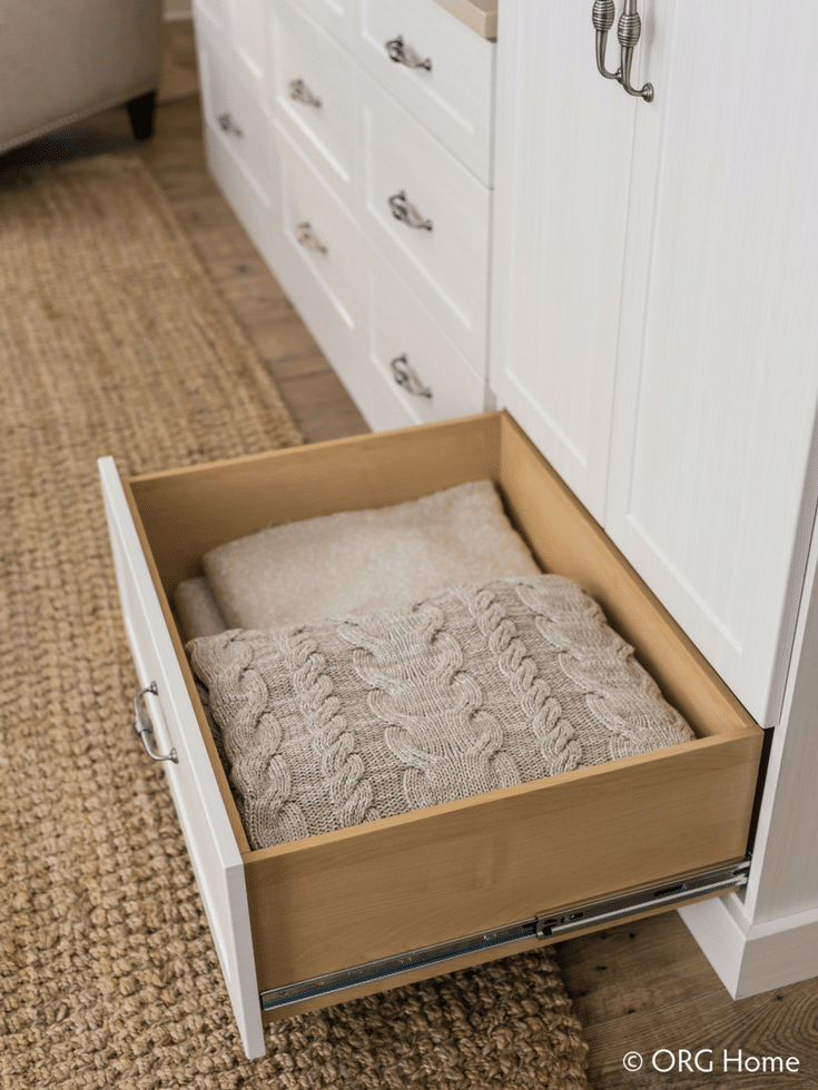 Adding Drawers to Store More | Innovate Home Org | Columbus  #DrawerStorage #ClosetStorage #Storage