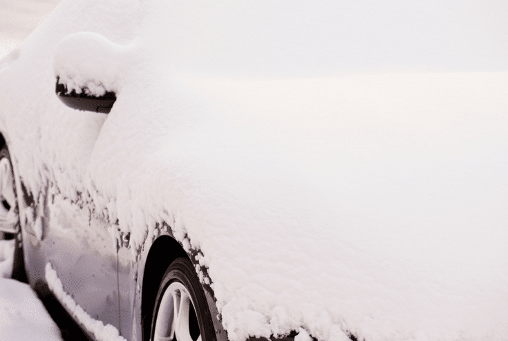 Car in the Snow | Innovate Home Org | #ColumbusSnow #GarageStorage #CarGarage