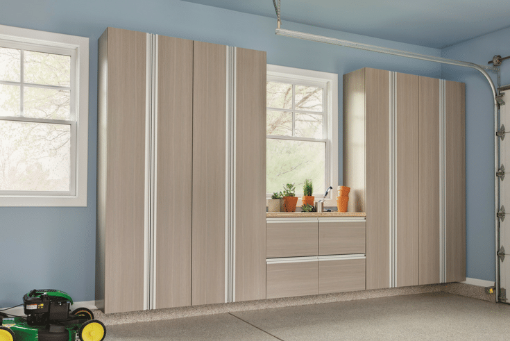 Closed Cabinets for Garage Storage | Innovate Home Org | #ClosedCabinets #MessyGarage #StorageSolutions