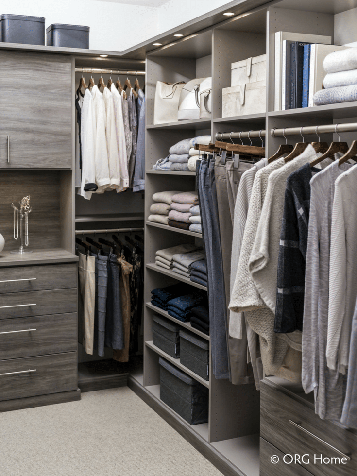 Efficient Walk In Closet | Innovate Home Org | #NewHomesColumbus  #WalkInCloset #ClosetDesign #