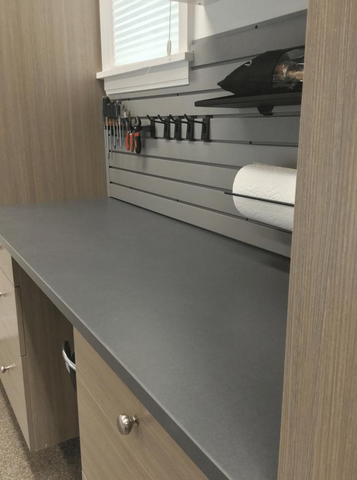 Garage Work Bench for Tools   Innovate Home Org   #Workbench #GarageStorage #StorageforTools