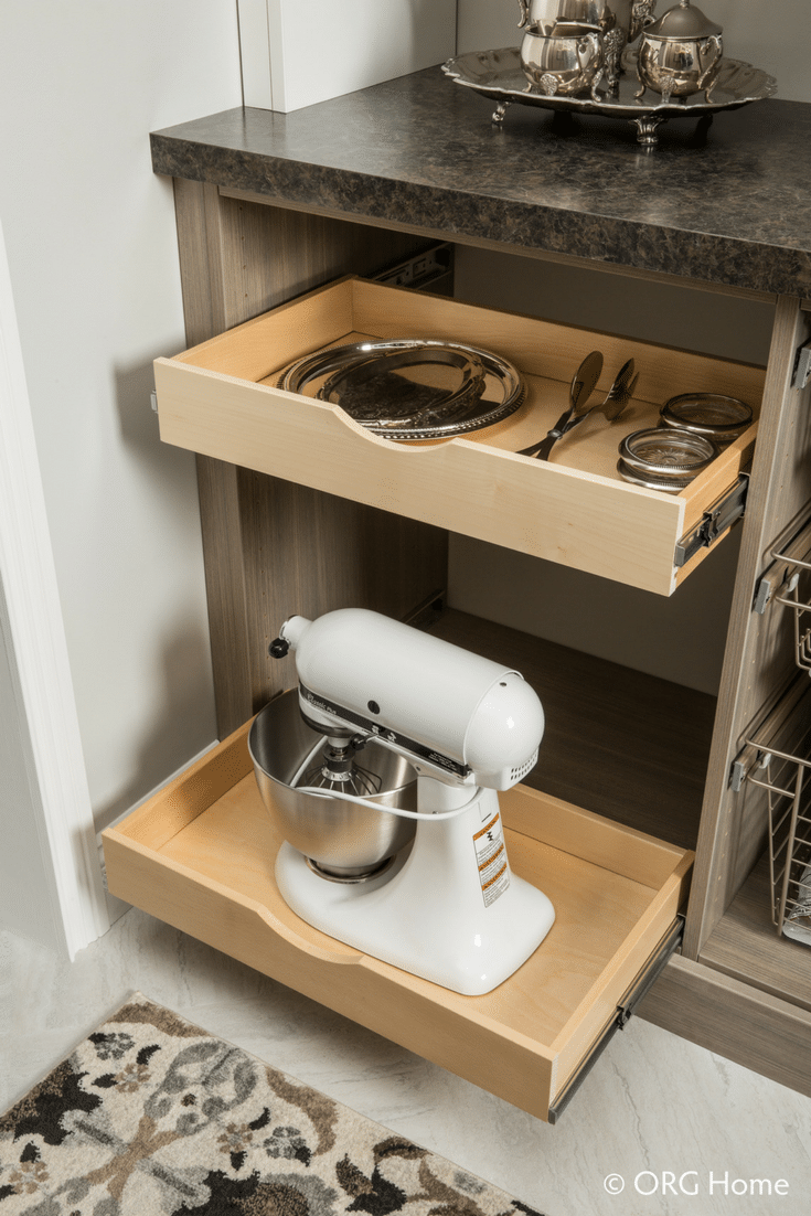 Scoop Drawers for Pantry or Closet | Innovate Home Org | #UpperArlington #CustomClosets #NewHomeClosets #Shelving