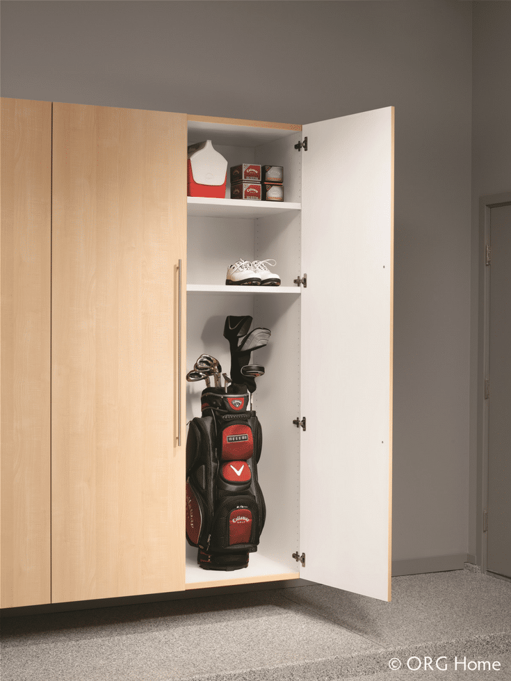 Tall Cabinets for Tall Garage Ceilings | Innovate Home Org | #GarageStorage #TallCabinets #GarageCabinets