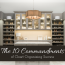 The 10 Commandments of Closet Organizing Success