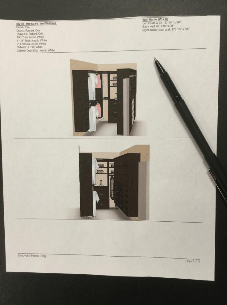 3D Closet Design | Innovate Home Org | #ClosetDesign #3DDesign #DublinClosets