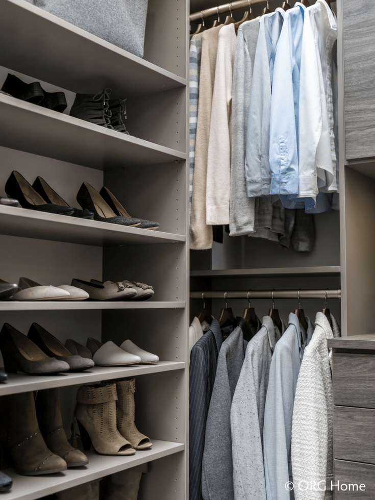 Double Hanging Rods for More Space | Innovate Home Org | #HangingSpace #DoubleHaning #OverstuffedCloset