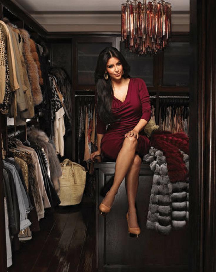 Kim K Closet www.instyle.com