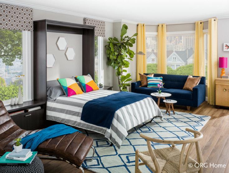 Murphy Bed Down   Innovate Home Org   #MurphyBed #LoftLiving #ExtraSpace