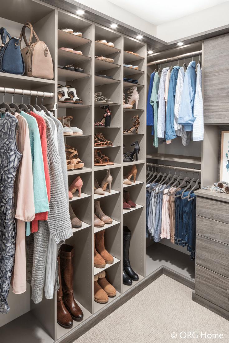 Shoe Storage for Closet | Innovate Home Org | #ClosetStorage #ShoeStorage #ColumbusOhio