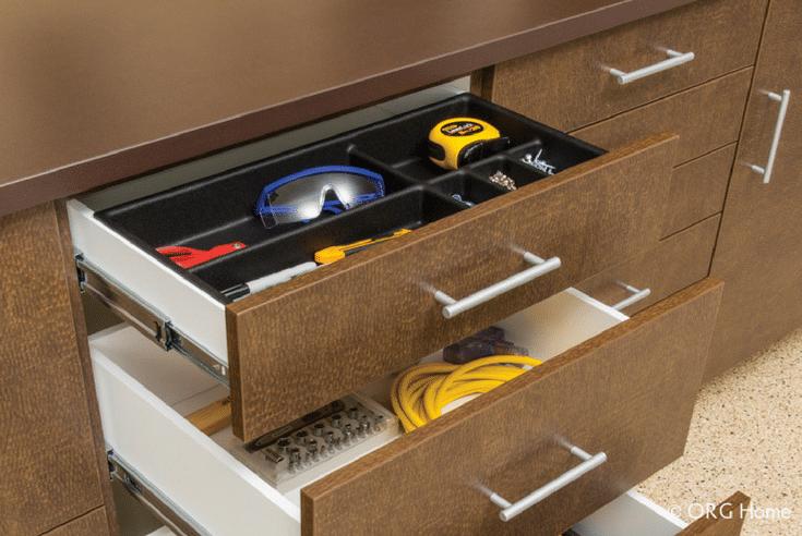 Garage Workbench Storage | Innovate Home Org | #GarageOrganization #Workbench #StorageSolutions