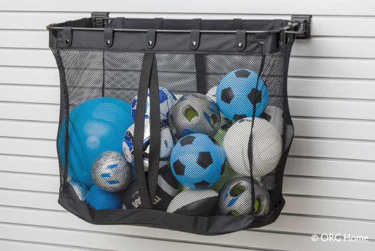 Large Mesh Storage For Sports Balls | Innovate Home Org | #SportingEquipment #StorageForBalls #StorageSolutions #ColumbusOhio