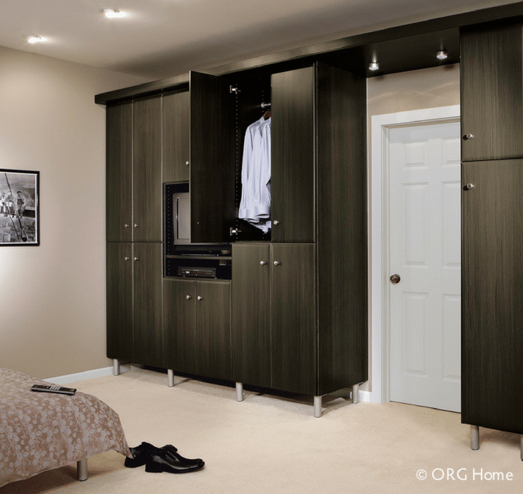 Woredobe Closet for Downsizing | Innovate Home Org | #DownsizingCloset #DowntownColumbus #LoftApartment