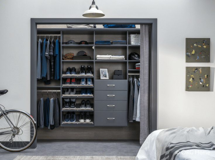 Closet Wall Hung System | Innovate Home Org | #ClosetSystem #WallHungSystem #ReachInCloset