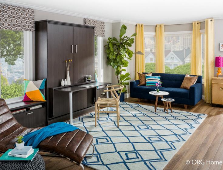 Murphy bed desk bed queen size | Innovate Home Org | #DeskBed #MurphyBed #MultipurposeRoom