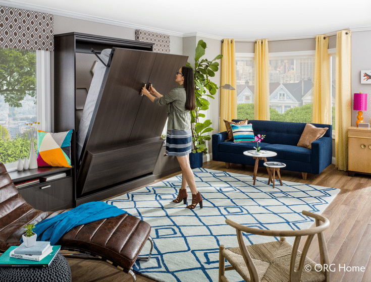 Murphy bed putting it up | Innovate Home Org | #MurphyBed #FoldupBed #WallBed