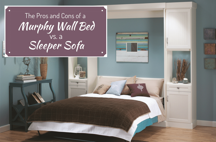 The pros and cons of a murphy wall bed vs. a sleeper sofa | Innovate Home Org | #MurphyBed #SleeperSofa #WallBed