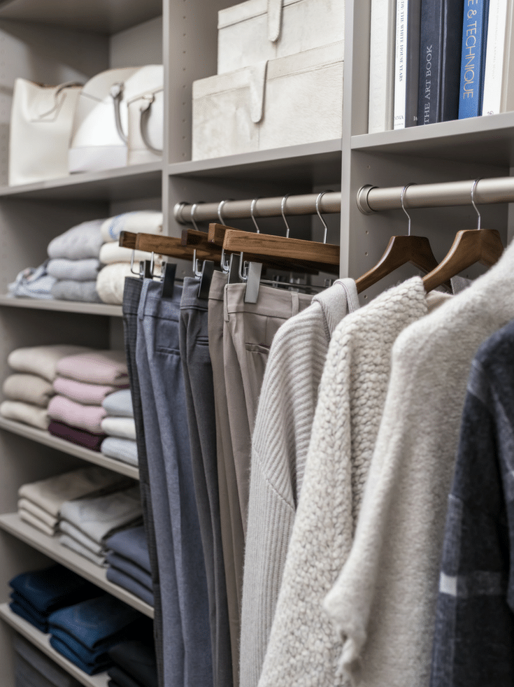No overcrowding closet rods in a columbus closet | Innovate Home Org | Columbus Homes | #ClosetOrganization #CustomCloset #DeclutteringCloset