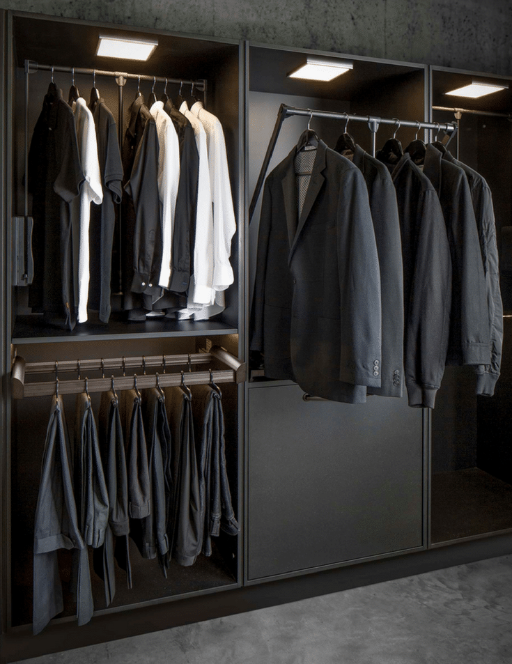 Pull down rods for accessibility | Innovate Home Org | Columbus, Ohio| #CustomClosets #WheelchairAccessible #WheelchairCloset