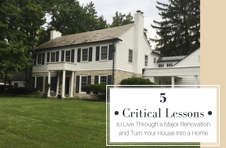 Critical Lessons to Live through a major renovation and turn your house into a home | Innovate Home Org | Bexley, Ohio | #HomeRenovation #Remodel #ClosetStorage