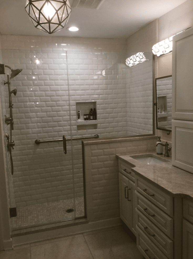Remodeled master bathroom | Innovate Home Org  | Columbus, Ohio | #BathroomRemodel #ShowerPanels #ColumbusBathrooms