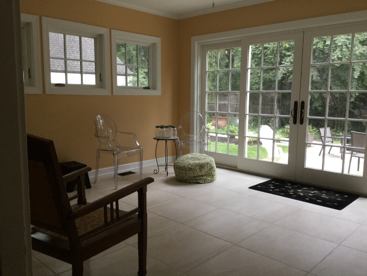 Remodeled sunroom in bexley ohio | Innovate Home Org | #Sunroom #HomeRemodel #BexleyHomes