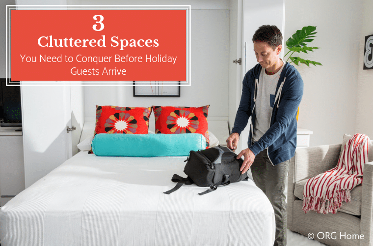 3 cluttered spaces you need to conquer before holiday guests arrive | Innovate Home Org | Columbus, Ohio | #MudroomStorage #EntrywayStorage #PantryStorage #MurphyBed